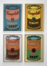 1962.warhol four colored campbells soup
